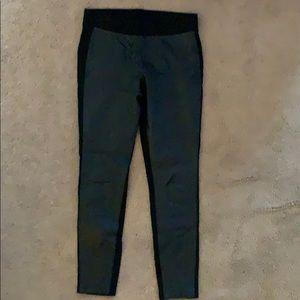 Cabi size Medium black faux leather front leggings